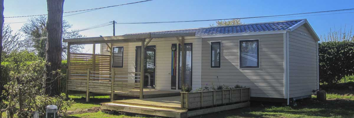 Location mobil home confort en Bretagne